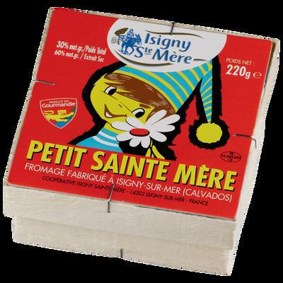 Petit Sainte Mère au lait pasteurisé ISIGNY SAINTE MERE, 29% de MG, 180 g