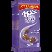Milka Chocolat Au Lait , 6 Tablettes De 100g, Lot Familial