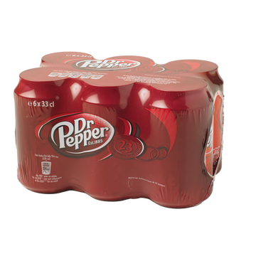 Dr. Pepper Soda Dr Pepper- Pack Canettes 6x33cl