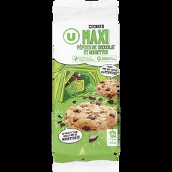 Cookies maxi pépites et noisettes U, paquet de 184g