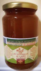Miel fleurs sauvages de Margeride et d'Aubrac, Les Ruchers des barons d'Apcher, 500g