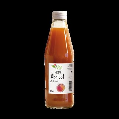 Nectar d'abricot LA SOURCE DU VERGE, bouteille 33cl