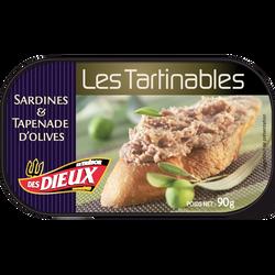 Tartinable sardines & tapenade d'olives LES DIEUX, 90g
