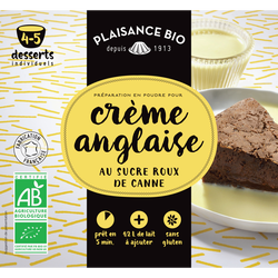 Préparation pour crème anglaise gourmande bio, PLAISANCE BIO, 40g