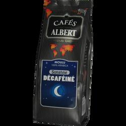 Café moulu sonatine décaféiné CAFES ALBERT, 250g