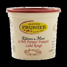 Rillettes du Mans pur porc fermier PRUNIER, 400g
