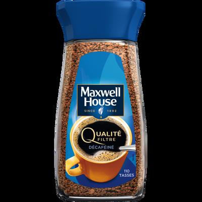 Café soluble décaféiné MAXWELL, bocal de 200g