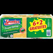 Spontex Gratte Épge Efficacité Anti-bactérienne  X6+2 Offerts
