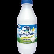 """Lait frais demi écrémé pasteurisé """"Matin Léger"""" LACTEL, 1l"""