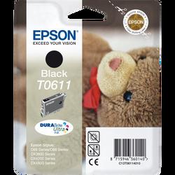 Cartouche d'encre EPSON pour imprimante, T0611 noir Nounours, sous blister