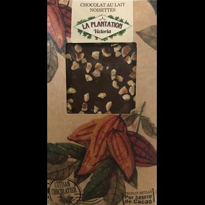 Chocolat au lait noisettes, LA PLANTATION BOVETTI, tablette de 80g