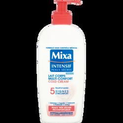 Lait corps cold cream, MIXA, intensif peaux sèches, flacon de 250ml