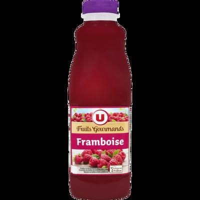 """Jus de framboise """"fruits gourmands"""" U, bouteille de 1l"""