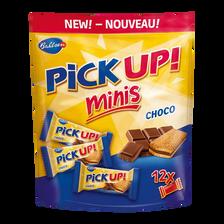 Biscuits pick-up minis choco BAHLSEN, sachet de 12 unités, 127g