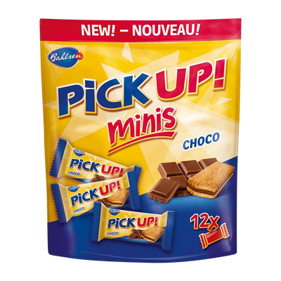 Biscuits pick-up minis choco BAHLSEN, sachet de 12 unités, 127g