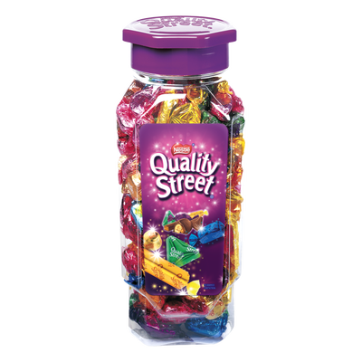 Assortiment de chocolats et caramels QUALITY STREET, jarre de 900g