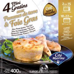 Mini gratin pomme de terre foie gras CITE MARINE, 4x100g