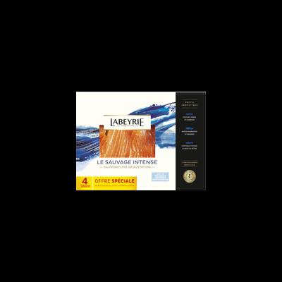 Saumon fumé sauvage du Pacifique fumé au bois de hêtre LABEYRIE, 4 tranches soit 150g degustation plateau offre spéciale