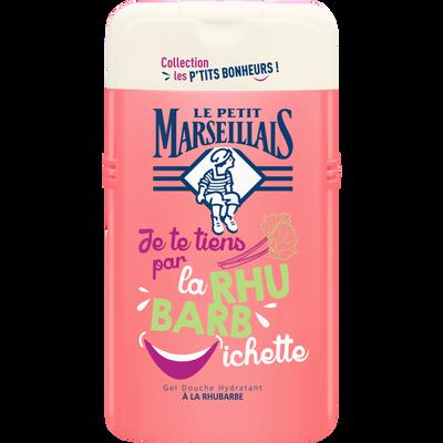 Douche bonheur parfum rhubarbe LE PETIT MARSEILLAIS, flacon de 250ml