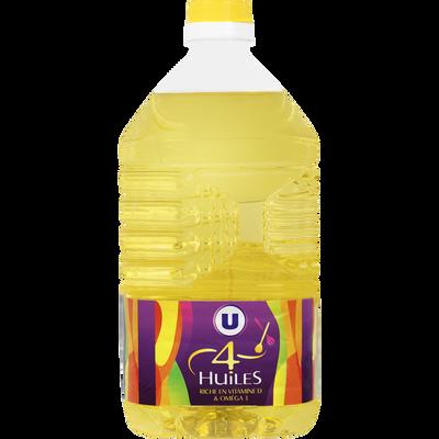 Melange 4 Huiles, vitamine D,  U,  bidon de 2 litres