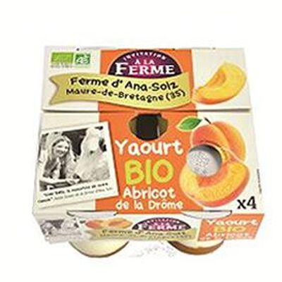 Yaourt fruit abricot de la Drôme FERME D'ANA-SOIZ 4x125g