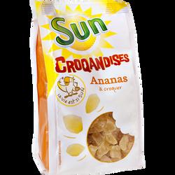 Dés d'ananas séchés sucrés, CROQANDISES, sachet 250g