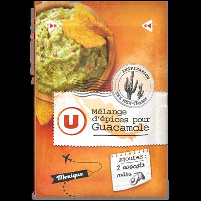 Mélanges épices pour guacamole U, sachet de 20g