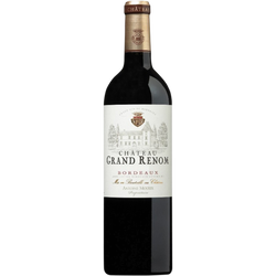 """Vin rouge AOP Bordeaux """"Château Grand Renom"""", bouteille de 75cl"""