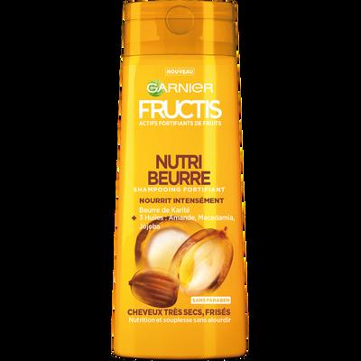 Shampooing nutri beurre cheveux très secs et frisés, FRUCTIS, flacon de 250ml
