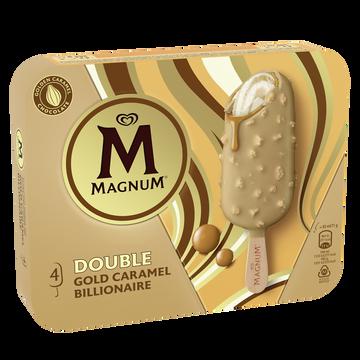 Magnum Glace Bâtonnet Magnum Double Gold Caramel Billionnaire - X4, 284g