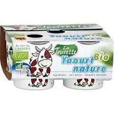 Yaourt bio nature au lait entier 4x125g Laiterie La Tourette