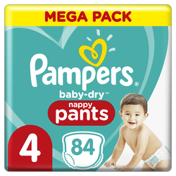 Couches baby dry pants PAMPERS 9-14kg mega taille 4 x84