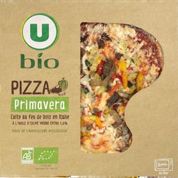 Pizza aux légumes issue de l'agriculture biologique Bio U, 380g