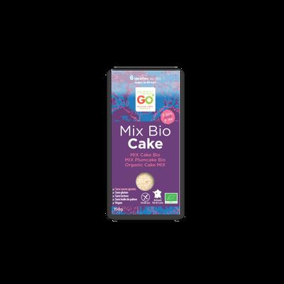 Mix cake vegan sans gluten sans sucre ajouté bio HAPPY GO, 150g