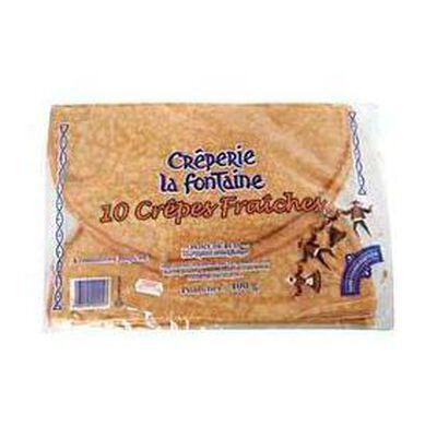 10 Crêpes fraîches LA FONTAINE, 400g