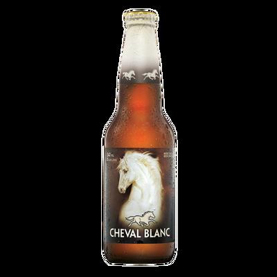 Bière blanche CHEVAL BLANC 5°, bouteille 341ml