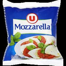 Mozzarella au lait pasteurisé U, 17% de MG, 250g