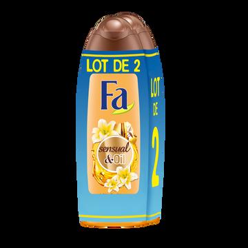Fa Gel Douche Sensual & Oil Soin Intense Fleur De Vanille Fa 2x250ml