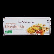 Biscuit muesli fruits bio BISCUITERIE LA SABLESIENNE, étui de  110g