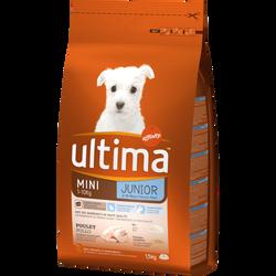 Croquettes pour chiots spécial mini junior de 2 à 8 mois ULTIMA, 1,5kg