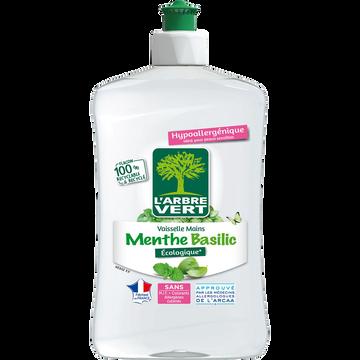 L'Arbre Vert Liquide Vaisselle Et Mains Concentré Menthe-basilic L'arbre Vert, Flacon De 500ml