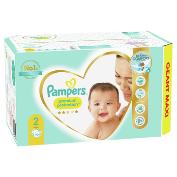 Pampers Couches New Baby Langes Pampers Geant Maxi T2 X104
