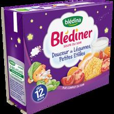 Blédina Soupe Infantile Douceur De Légumes Et Pâtes Étoiles Blediner, Dès 12 Mois, 2x250ml