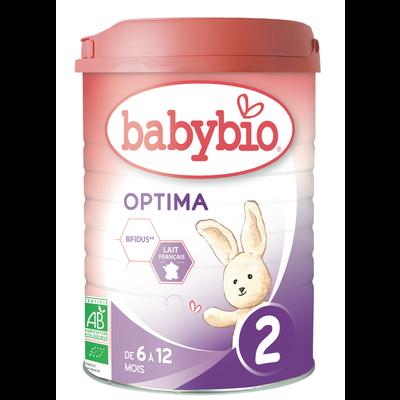 Lait Optima 2 BABYBIO, dès 6 mois, 900g