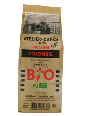 CAFE MOULU COLOMBIE BIO 250G