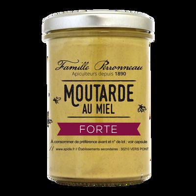 Moutarde forte au miel FAMILLE PERRONNEAU, 210g