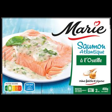 Marie Saumon Atlantique Sauce Oseille Crème Fraîche Légère Marie, 400g
