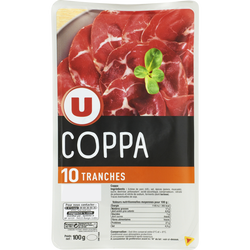 Coppa U, 10 tranches soit 100g