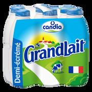 Candia Lait Demi-écremé Uht Grandlait, 6 Bouteilles De 1l