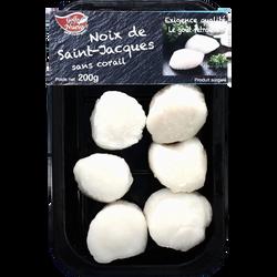 Noix de Saint Jacques sans corail GOLFO NUEVO, barquette de 200g